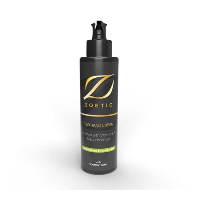 Zoetic 300mg CBD Hand Cream 100ml – Lemongrass & Ylang Ylang
