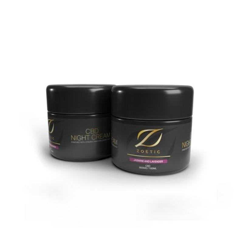 Zoetic 800mg CBD Night Cream 100ml – Jasmine...