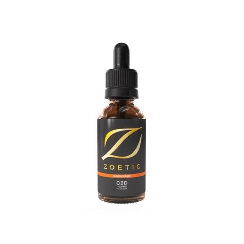 Zoetic 1000mg CBD Oil 30ml – Zesty Blood Ora...