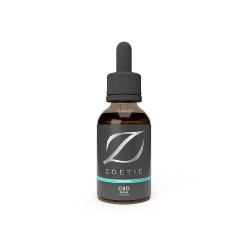 Zoetic 500mg CBD Oil 30ml – Refreshing Peppe...